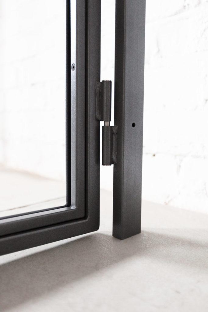 N51E12 Stahl Loft Tür, Drehtür mit Seitenteil und Oberlicht, Lofttür, Steel Door, Industrial Door, Glastrennwand, Raumtrenner, Flurtür, Durchgangstür, Industrial Design, Bauhaus Tür, Deisgntür, Glastür, Stahltür, 3D einstellbares Scharnier