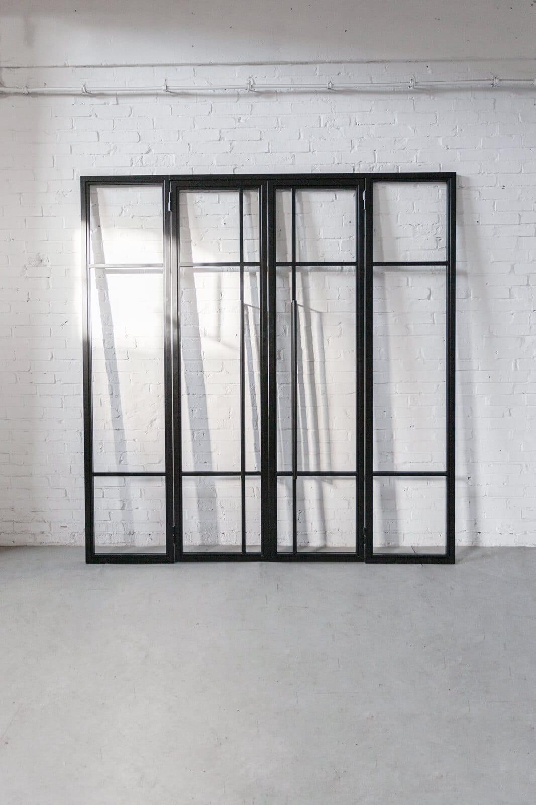 N51E12 Stahl Loft Tür, Glastrennwand, Windfang, Drehtür, Designtür, Steel door, Seel loft door, Windfang, Seitenteile,Drehtür, Doppeltür