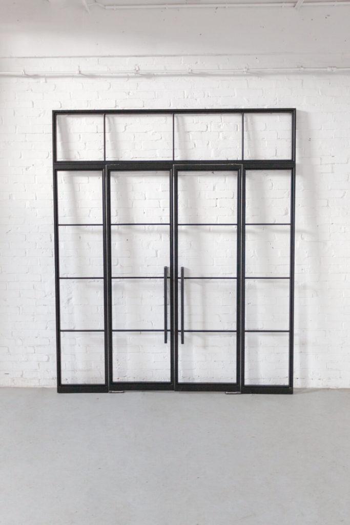 Loftstahl, Loft-Stahl.de - N51E12 Stahl Loft Tür, Doppeltür, Pivot, Pivottür, Schwingtür, Glastrennwand, Lofttür, Windfang, Glastür, Stahlrahmen, Stahltür, Metalltür, Industrial door, loftdoor, Bauhaus Tür, Bauhaus