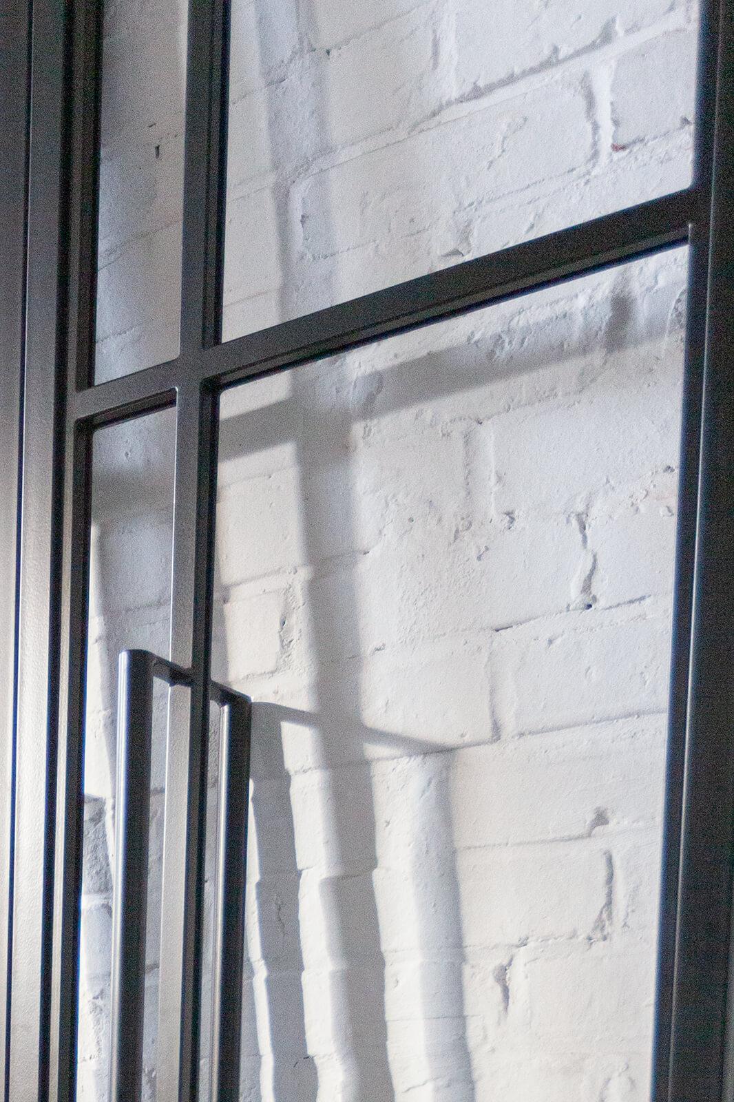 Loftstahl Loft-Stahl,N51E12 , Stahl Loft Tür, optische Glasaufteilung, 30x15mm Gleisleiste