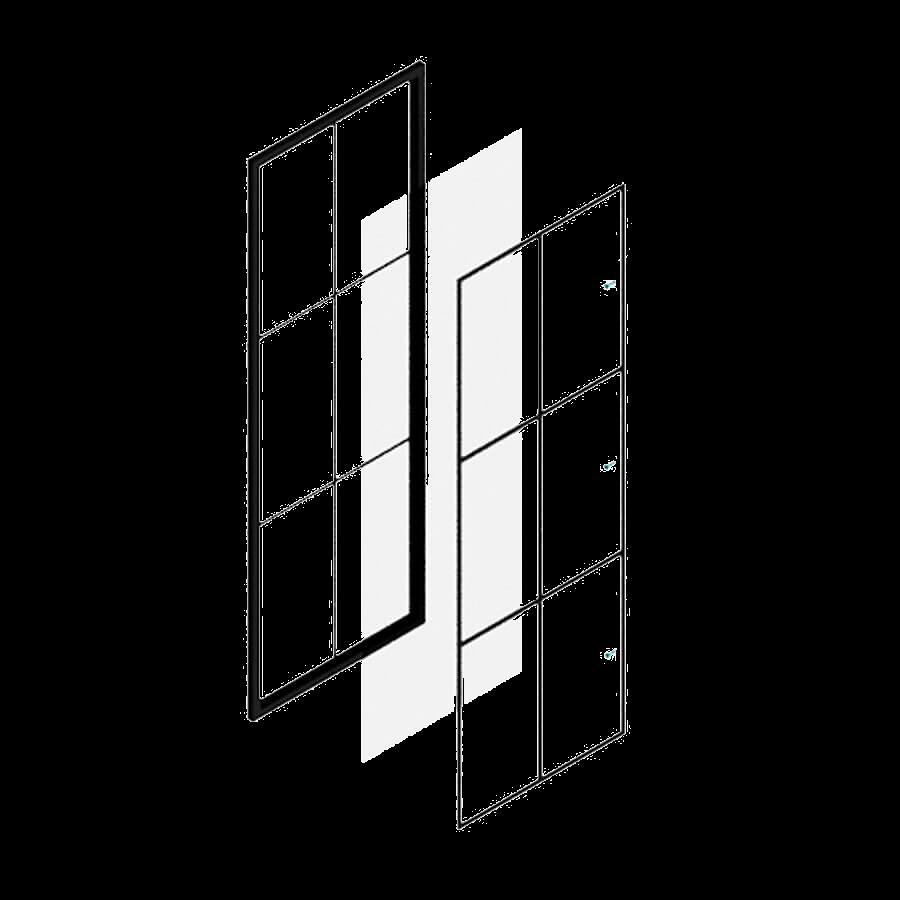 Loftstahl, Loft-Stahl.de - N51E12, Stahlrahmen, Lofttür, Stahl Loft Tür, Stahlrahmen, Glastrennwand, Raumtrenner, Stahlrahmenaufbau, Module, Element