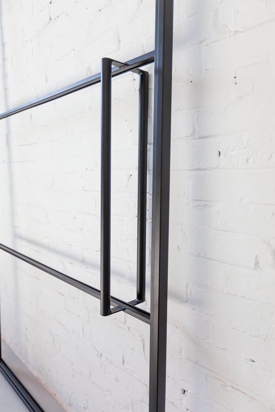 kurze Zugstange, Loftstahl, Loft-Stahl.de - N51E12, Stahl Loft Tür, Türgriff, Griff, Griffstange Kurz, Türbeschlag